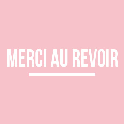 Collection Merci au revoir