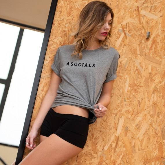 T-shirt Asociale - Femme