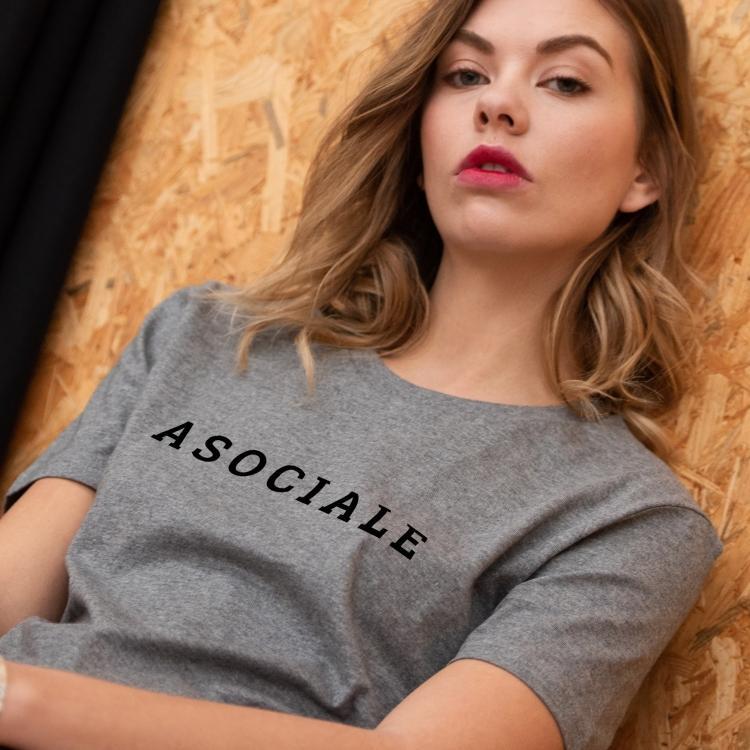 Tee-shirt Asociale - Femme
