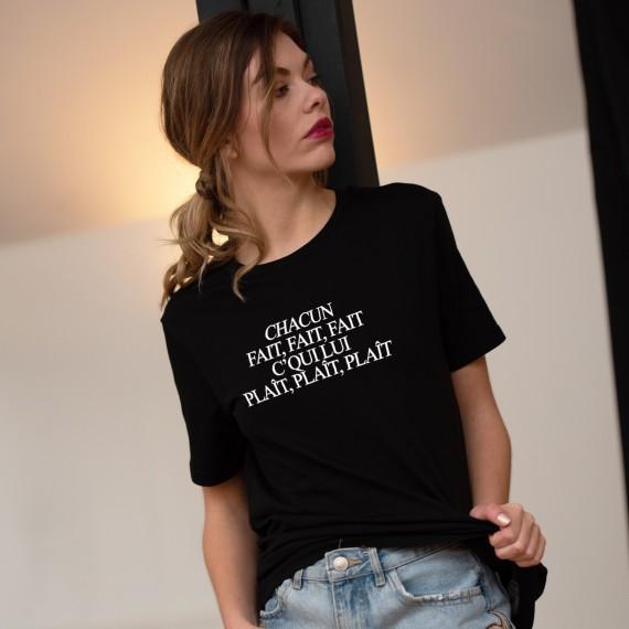 T-shirt Chacun fait fait fait - Femme