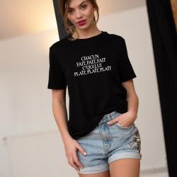 Tee-shirt Chacun fait fait fait - Femme
