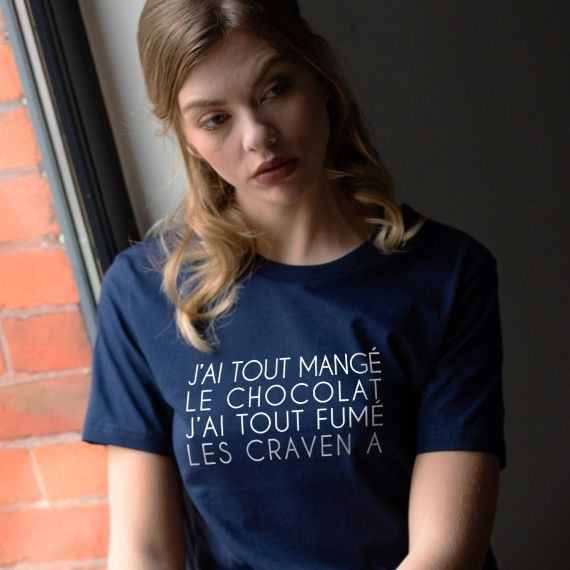 T-shirt J'ai tout mangé le chocolat - Femme