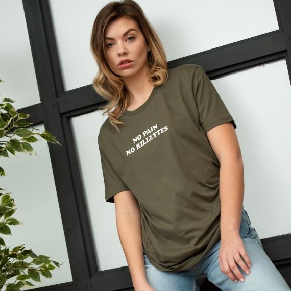 T-shirt No pain no rillettes - Femme
