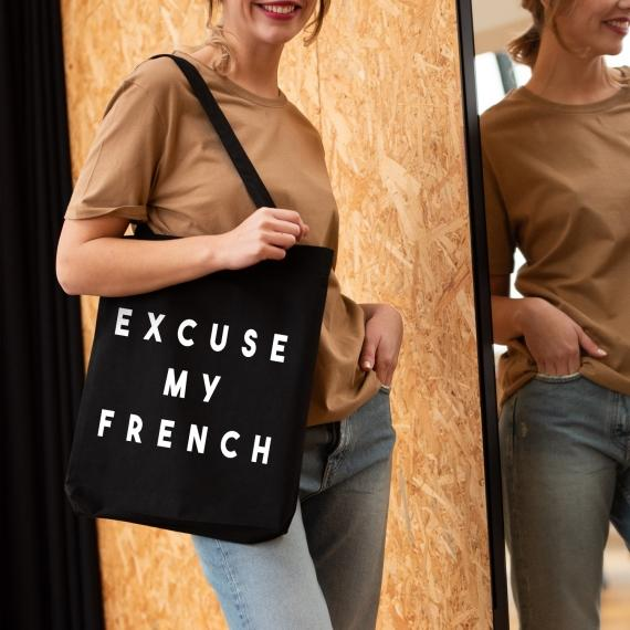 Tote bag Excuse my french