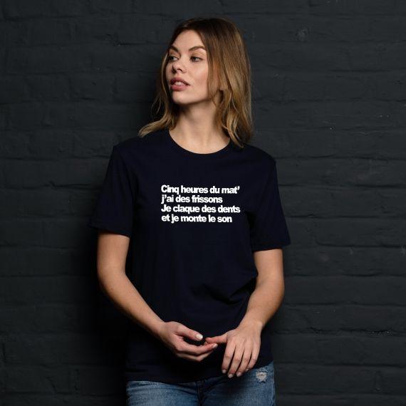 T-shirt Cinq heures du mat' - Femme