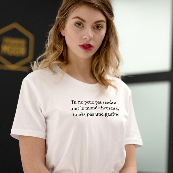 T-shirt Tu n'es pas une gaufre - Femme