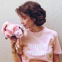 Tee-shirt Happy Mum - Femme