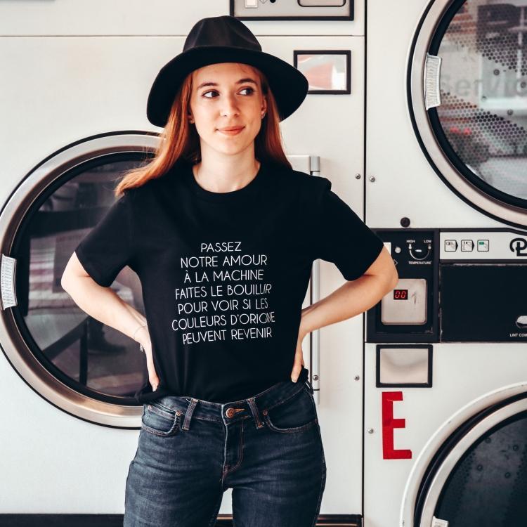T-shirt L'amour à la machine - Femme - 1