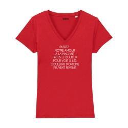 T-shirt col V - L'amour à la machine - Femme - 4