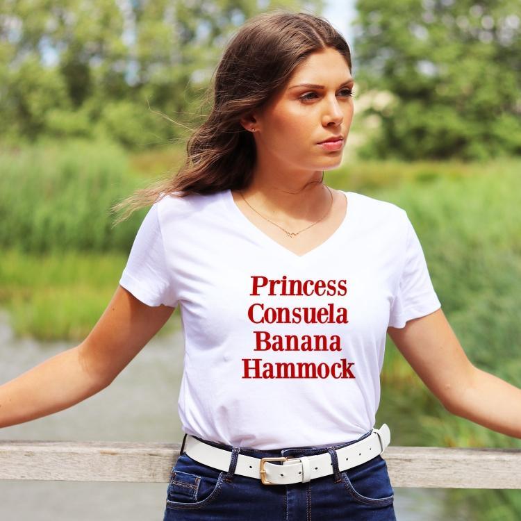 T-shirt col V - Princess Consuela Banana Hammock - Femme - 1