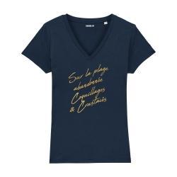 T-shirt col V - La Madrague - Femme - 3