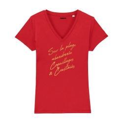 T-shirt col V - La Madrague - Femme - 4