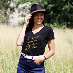 T-shirt col V - La Madrague - Femme - 1