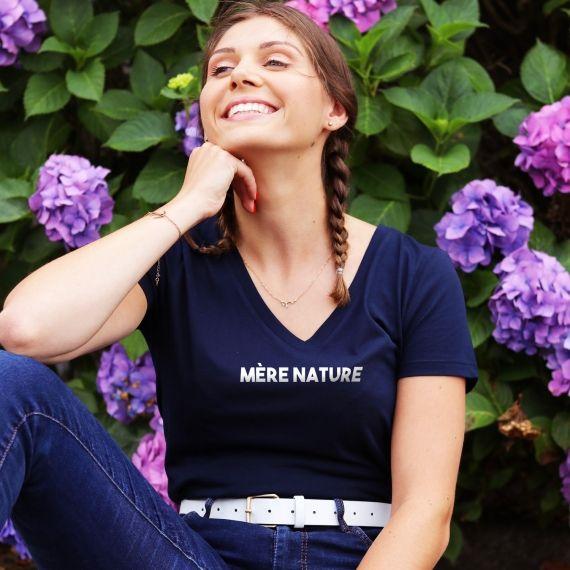 T-shirt col V - Mère Nature - Femme