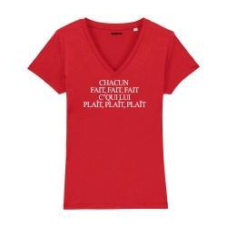T-shirt col V - Chacun Fait Fait Fait - Femme - 4