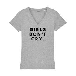 T-shirt col V - Girls don't cry - Femme - 3