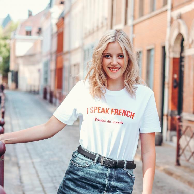 Tee-shirt I speak french - Femme
