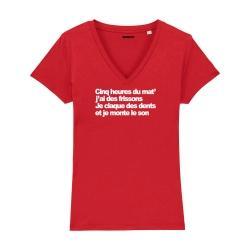 Tee-shirt Cinq heures du mat' - Femme