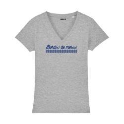 T-shirt col V - Bord(el) de mer(de) - Femme - 3