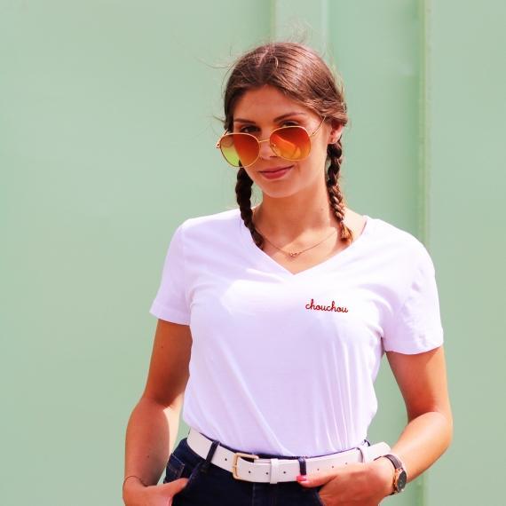 T-shirt col V - Chouchou - Femme
