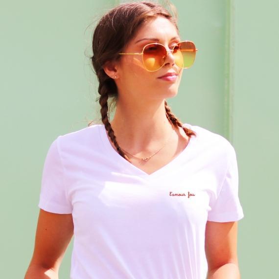 T-shirt col V - L'amour Fou - Femme