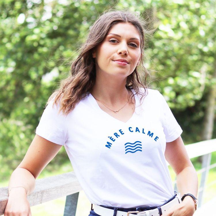 T-shirt col V - Mère Calme - Femme - 1