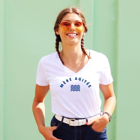 T-shirt col V - Mère Agitée - Femme