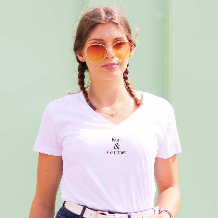T-shirt col V - Kurt & Courtney - Femme - 1