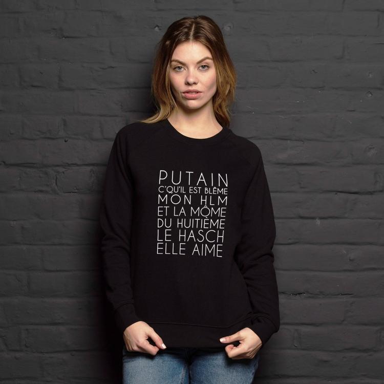 Sweatshirt Dans mon H.L.M - Femme - 1