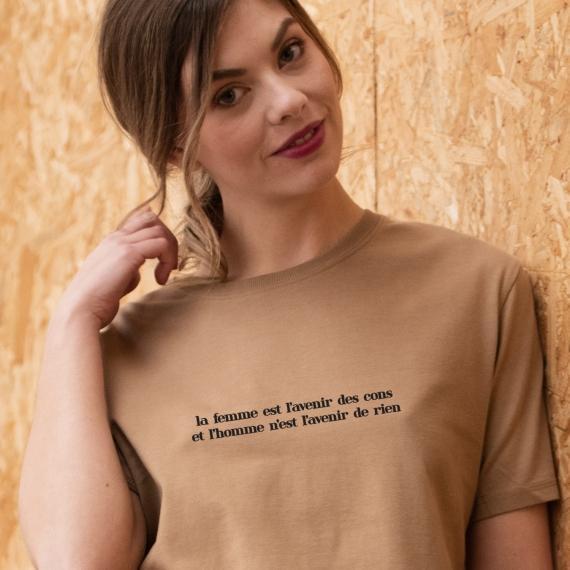 T-shirt Où c'est qu'j'ai mis mon flingue - Femme