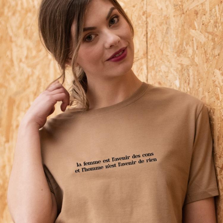 T-shirt Où c'est qu'j'ai mis mon flingue - Femme - 1