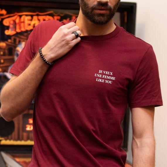T-shirt Je veux une femme like U - Homme