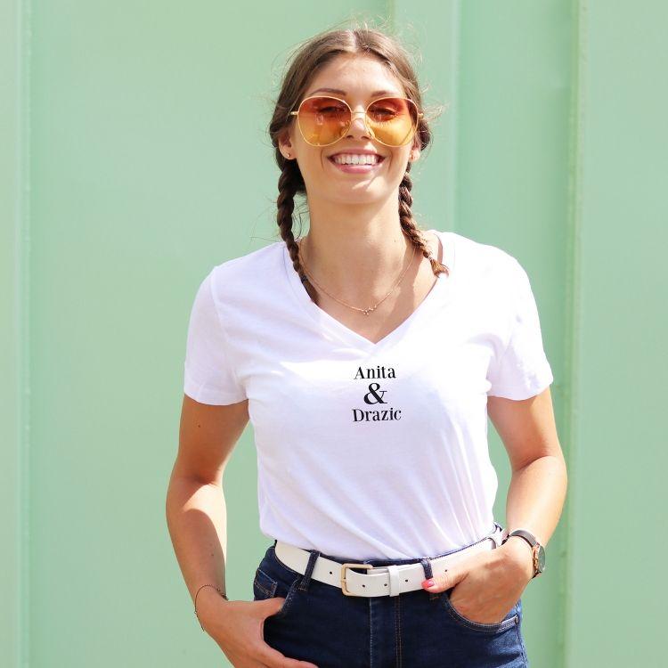 T-shirt col V - Anita & Drazic - Femme - 1