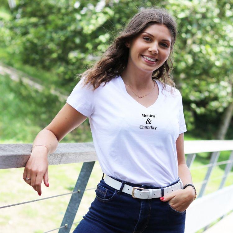 T-shirt col V - Monica & Chandler - Femme - 1