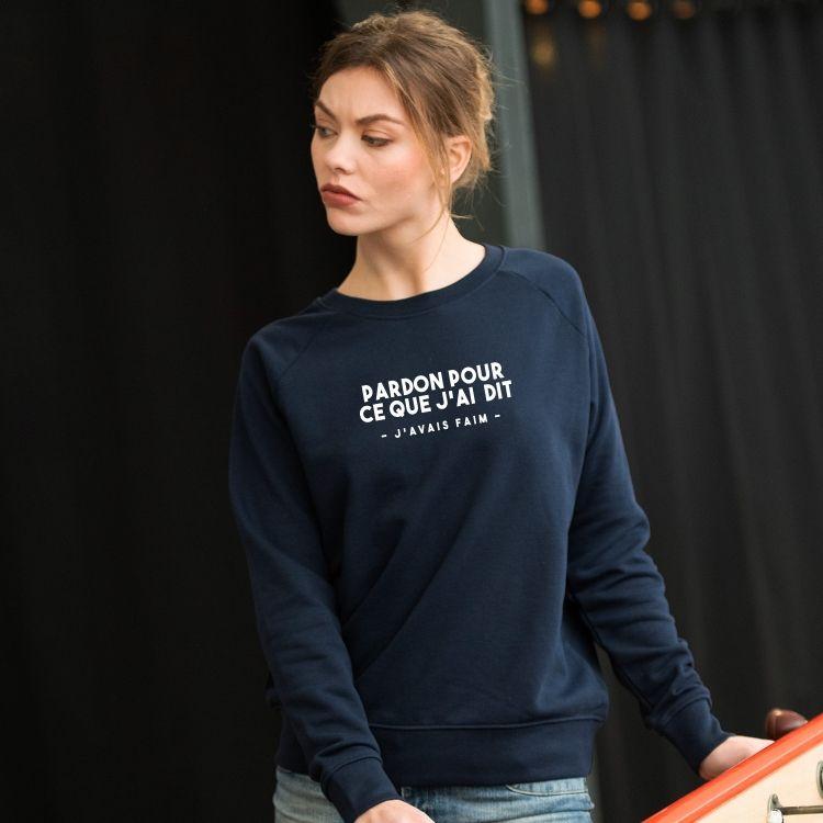 Sweatshirt Pardon pour ce que j'ai dit - Femme - 1