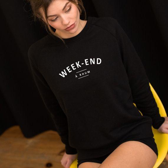 Sweatshirt Week-end à rhum - Femme