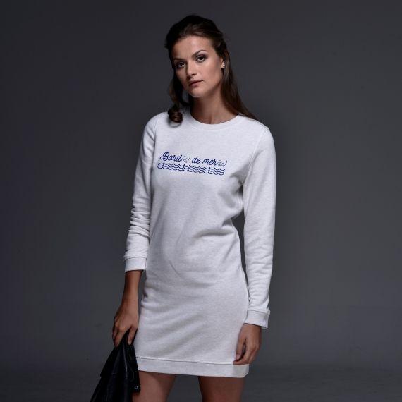 Robe sweat Bord(el) de mer(de) - Femme