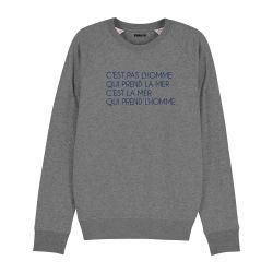 Sweatshirt C'est pas l'homme qui prend la mer - Homme - 2