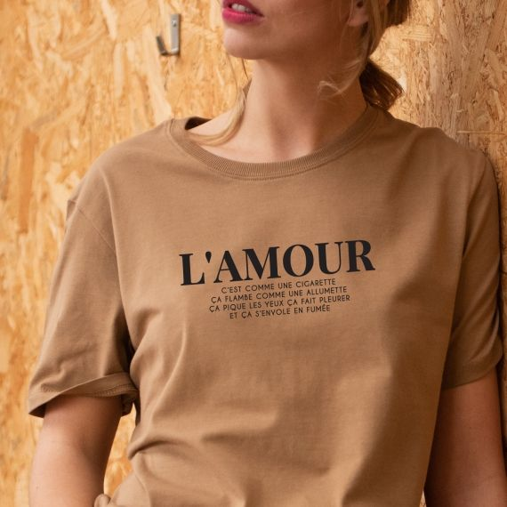 T-shirt L'amour c'est comme une cigarette - Femme
