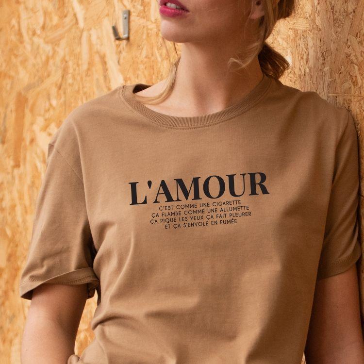 T-shirt L'amour c'est comme une cigarette - Femme - 1