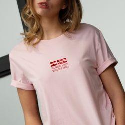 T-shirt Mon cœur mon amour - Femme - 1