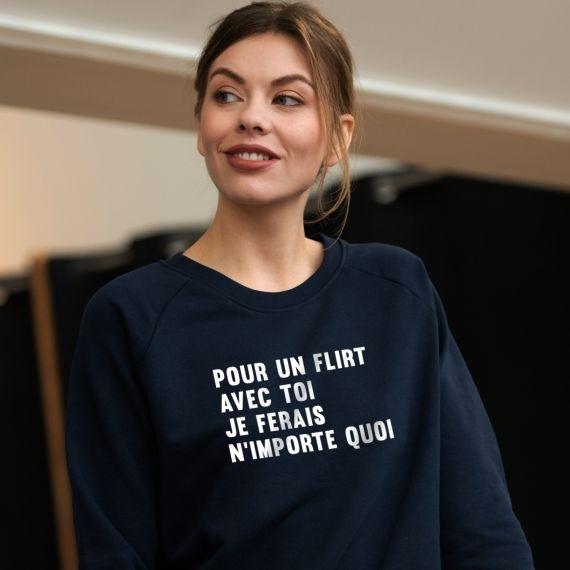 Sweatshirt Pour un flirt avec toi - Femme