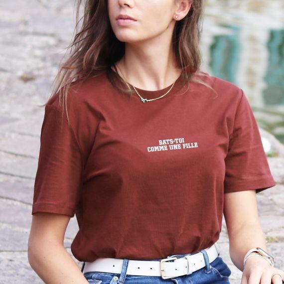 T-shirt Bats-toi comme une fille - Femme