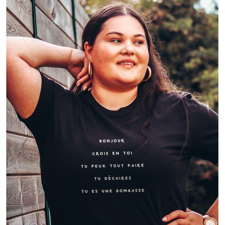 T-shirt Bonjour crois en toi- Femme - 3