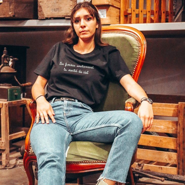 T-shirt Les femmes soutiennent la moitié du ciel - Femme - 2