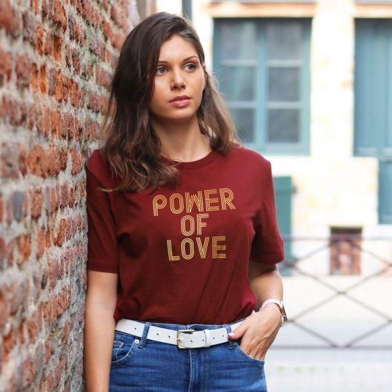 T-shirt Power of love - Femme
