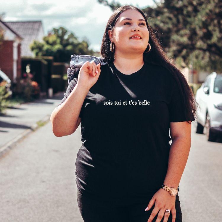 T-shirt Sois toi et t'es belle - Femme - 2