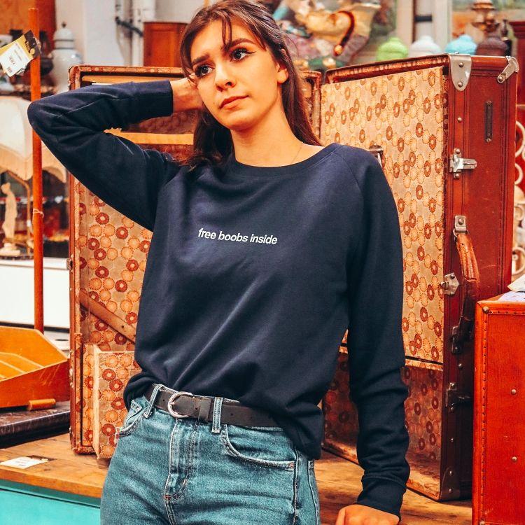 Sweatshirt Free boobs inside - Femme - 1