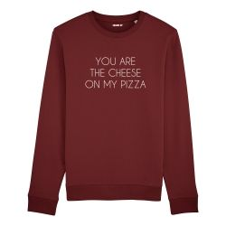 Sweatshirt You are the cheese on my pizza - Homme - 4