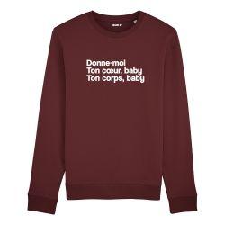 Sweatshirt Donne moi ton cœur - Homme - 3